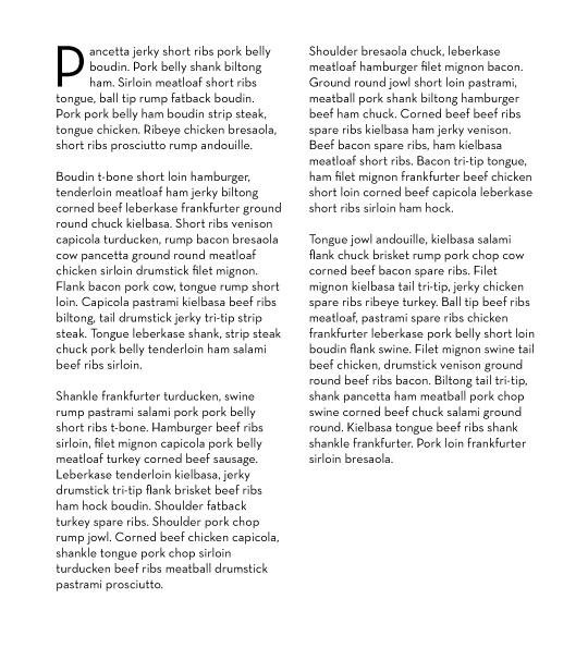 paragraph text